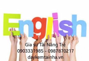 Giáo viên dạy tiếng Anh ngay tại nhà